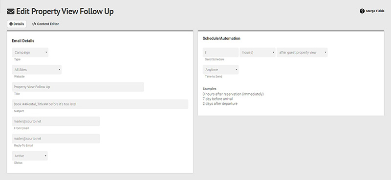 CMS Email Automation Screenshot